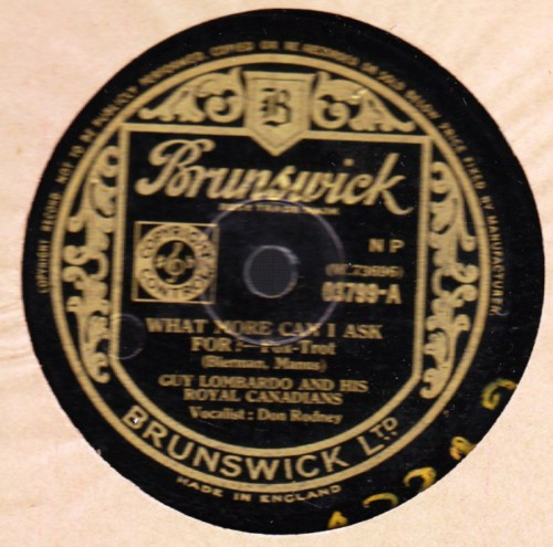Guy Lombardo - What more can I ask for - Brunswick 03799